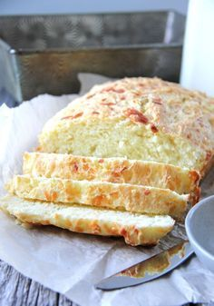 Mozzarella and Parmesan Buttermilk Quick Bread - You can have fresh bread on your table in just over 1 hour using this quick bread recipe!