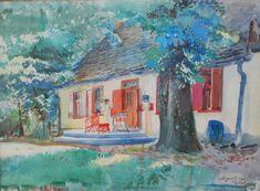 Mansion in Gościeradz Leon Jan Wyczolkowski - 1929 Watercolor