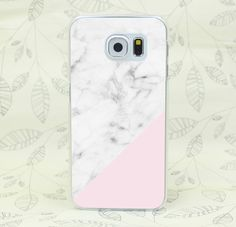 White And Pink Marble Hard Transparent Case Cover for Galaxy S2 S3 S4 S5 Mini S6 S7 edge