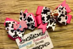Farm party?  horseback riding?  cows, pigs and more.  Your Choice of One Cow or Pig Horse Barn by SammyBananysHairBows, $7.99  Repin my bows please!