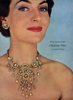 Francis Winter (Jewels) 1955  Necklace Christian Dior Swarovski
