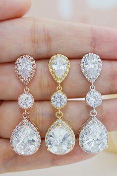 LUX Cubic Zirconia Bridal Earrings from EarringsNation