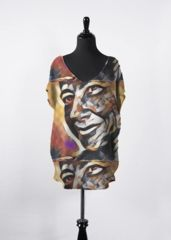 Face: What a beautiful product! Night Looks, V Neck Tops, Print Patterns, Cool Style, Silhouette, The Originals, Face, Artwork, Artist