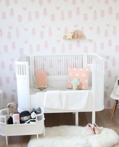 Pretty in Pastel http://petitandsmall.com/pastel-nursery-ideas/