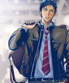 Kuroko no Basket - Aomine Daiki - 青峰大輝 Hot Anime Boy, Anime Guys, Fanarts Anime, Anime Characters, Animation, Kurokos Basketball, Aomine Kuroko, Kuroko No Basket Characters, Handsome Anime
