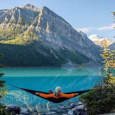Relaxing on Lake Louise, Alberta, Canada | Photography by © @moonmountainman. #OurPlanetDaily