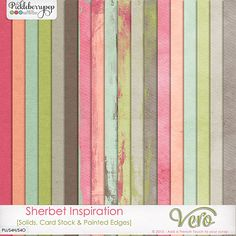 Sherbet Inspiration [Solids, Card Stock and Painted Edges] by Vero