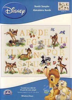Punto Croce: Abecedari - Bambi