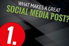 The next time you create a post for Facebook, Twitter, or other social networks, keep these points in mind: The BEST posts are based on quality content and visuals that are positive, engaging, and well-timed. Read more tips in this infographic.