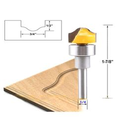 """Highly sharpen, sharp blade cutting smooth no burr, no edges. 1 x 1/4"""" Shank Router Bit. Shank Size: 1/4"""" (6.35mm). High abrasion resistance, high-precision grinding technology, chip removal more smoothly. 