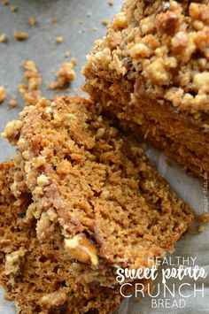 Healthy Sweet Potato Crunch Bread you can nosh on for breakfast, brunch, or every eating occasion in-between. It goes great with coffee or tea too.