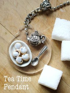 Super Cute Kawaii Teapot Cinnamon Bun and by HighTeaGypsyBoutique