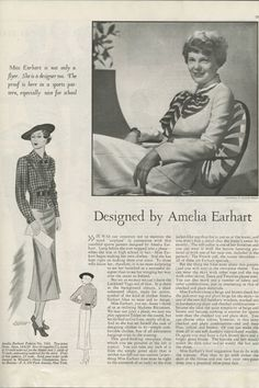 Amelia Earhart's fascinating, empowering clothing line will remind non-fashion folk that style can make a difference