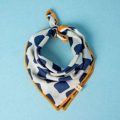 LIAM - Navy Pumpkin Card - Luxury Dog Scarf