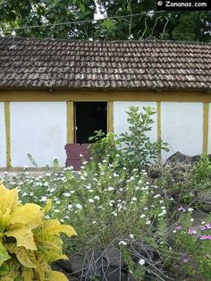 Case créole avec toit en tuiles au Carbet, petite commune de la côte nord caraïbe de la #Martinique.