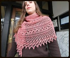 The Pollikeet Shawl is the perfect pattern for the knitter looking to up their lace prowess. The body is knit in back-and-forth rows and starts with a fun and unique mesh stitch, followed by a simple diamond pattern. The edging is a bit more intricate and is knit separately and attached as it is worked. This is a pattern that will hold your interest and build your skills.