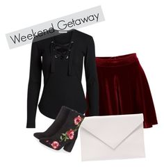 """""""Weekend Inspiration"""" by yourism on Polyvore featuring Verali, Topshop, lace, booties and velvet"""