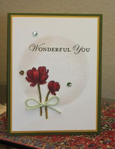 Wonderful You by CAKath - Cards and Paper Crafts at Splitcoaststampers