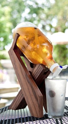 Beer growler stand - love this!