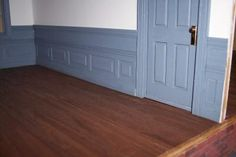 Excellent Dollhouse Wainscoting Tutorial! Maybe use stiff cardboard for the paneling?