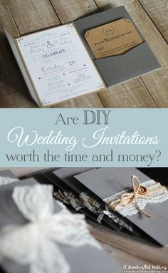Are DIY Wedding Invitations Worth It? See how much we spent on our DIY invitations and decide if it's worth your time and energy. {A Handcrafted Wedding}
