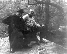 Winston Churchill and Franklin Roosevelt Fishing at Camp David - 1943