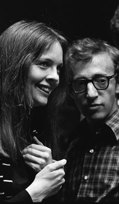 Diane Keaton and Woody Allen on the set of 'Annie Hall', 1977