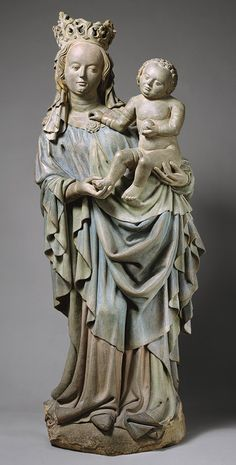 Virgin and Child, ca. 1425–1430 Nuremberg Sandstone with polychromy; 57 1/2 x 21 1/4 x 11 13/16 in. (146 x 54 x 30 cm)
