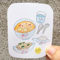 ข้าวแม่ 💜 #food #thaifood #cook #cooking #illustrator #illustration #painting #paint #character #characterdesign #cookbook #watercolor #watercolorpainting #watercolour #cartoon #breakfast #brunch #morning #artist #ข้าวแม่