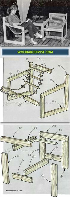 Outdoor Furniture Plans - Outdoor Furniture Plans and Projects | WoodArchivist.com