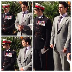 EXCLUSIVE: #HenryCavill and his brother Nik at Royal Marine Service ahead of Freedom of #Gibraltar Parade. Much more to come! #Superman #ManofSteel #BatmanvSuperman #TheManFromUNCLE #RMCTF #Charity #RoyalMarines #RockRun #justiceleague #Jersey #ClarkKent #NapoleonSolo
