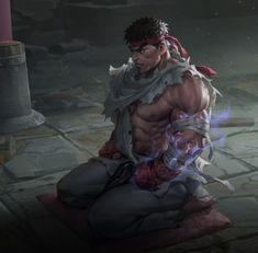 Teppen - ryu Street Fighter Tekken, Street Fighter Characters, Super Street Fighter, Samurai Warriors Anime, Samurai Art, Art Of Fighting, Fighting Games, Street Fighter Wallpaper, Fan Anime