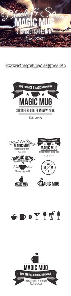 coffee shop logo design ideas www.cheap-logo-design.co.uk #coffee #coffeeshop #logodesign