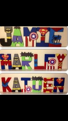 Superhero door sign- need for bret's xmas gift