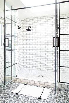 BECKI OWENS Black and White Bathroom Tile