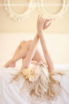 Her pose.....feminine...beautiful  Romantic and sensual boudoir photography for the groom as a wedding gift or just for fun
