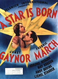 """A Star Is Born"" (1937): Fredric March and Janet Gaynor."
