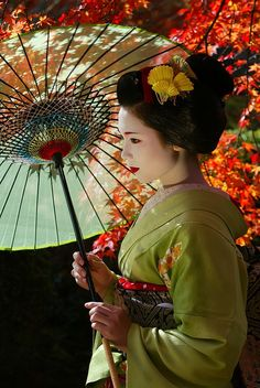 "geisha-licious: "" Umewaka as maiko by WATASAN on Flickr """