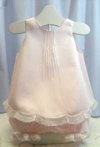 Handmade Baby and Toddler Linen Sundress with Matching Panties