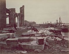 Ruins of Norfolk Navy Yard - Photographic Sketch Book Of The Civil War