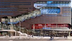 "Located at the intersection of 14th Street and 5th Avenue in Manhattan, this new multipurpose facility is the ""heart"" of The New School. The LEED® Gold building provides space for all aspects of a traditional campus, with 200,000 square feet of"