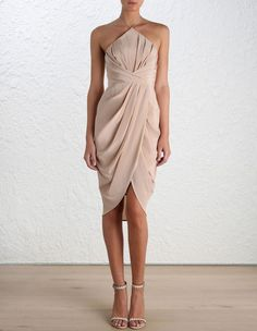New Collection Zimmerman Silk Tuck Dress