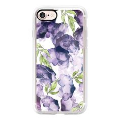Watercolor - Ink Florals Phone Case - iPhone 7 Case, iPhone 7 Plus... ($40) ❤ liked on Polyvore featuring accessories, tech accessories and android case