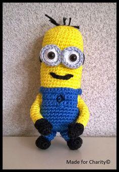 Minion Crochet Minion Crochet, Tweety, Minions, Charity, Crochet Hats, Fictional Characters, Art, Knitting Hats, Art Background