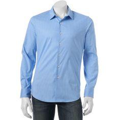 """2271562%3Fwid%3D800%26hei%3D800%26op_sharpen%3D1 Best Deal """"Men's Apt. 9 Geometric SlimFit Stretch Spread Collar Dress Shirt"""