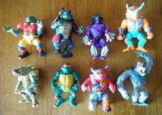 Lot of 7 Vintage 90s Teenage Mutant Ninja Turtles Action Figures plus Congo Ape #PlaymatesToys