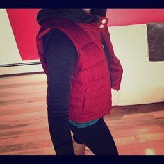 Ann Taylor Loft Brick Red Puffy Vest Ann Taylor Loft - down best, brick red.  Medium petite.  A classic.  Great price. Ann Taylor Jackets & Coats Vests