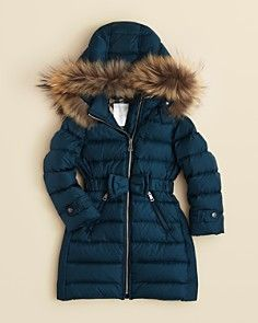 Burberry Girls' Catherine Long Puffer Coat - Sizes 7-14
