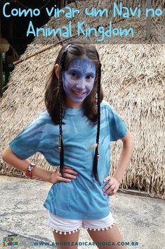 Navi é o povo azul do filme Avatar. No Animal Kingdom é possível se transformar em um deles na área Pandora. #animalkingdom #avatar #disney #disneyworld #pandora Sea World, Epcot, Magic Kingdom, Pandora Animal Kingdom, Disneyland, Walt Disney World Orlando, Hollywood, Animals, Blog