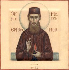 Ephraim of Nea Makri by Dana M. Toma of Romania Byzantine Icons, Sf, Orthodox Icons, Romania